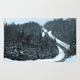 Winter Mountain Road Rug