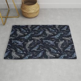 Whale constellations Rug