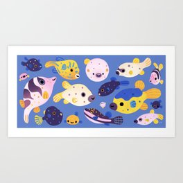 Blowfish Art Print