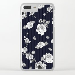 Flowers With Effect Clear iPhone Case