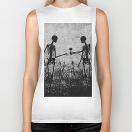 skeleton lovers Biker Tank
