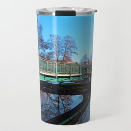 A bridge, the river and reflections II | waterscape photography Travel Mug