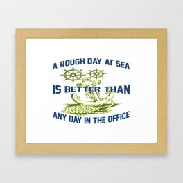 ROUGH DAY AT SEA Framed Art Print