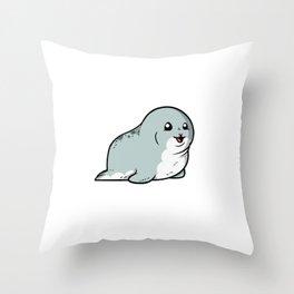 Cute Seal Sea Animal Throw Pillow