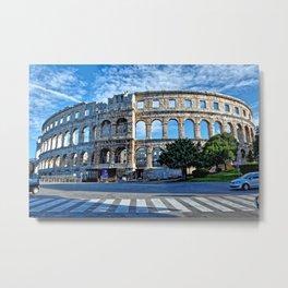Roman Arena Pula Metal Print