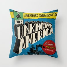 Unknown America Comics #1 Throw Pillow