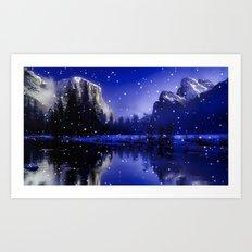 Enchanted Lake Art Print