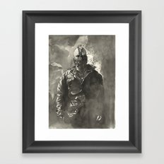 TDKR-bane Framed Art Print
