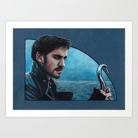 captain hook Art Prints featuring Captain Hook by Svenja Gosen