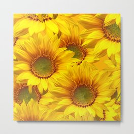 Yellow Mellow Sunflower Bouquet #decor #society6 #buyart Metal Print