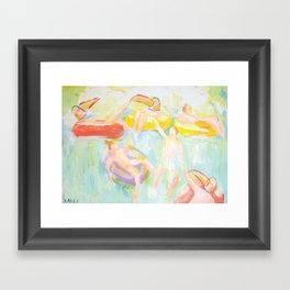 The Waterfall Party Framed Art Print