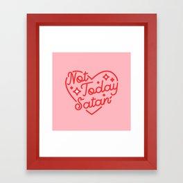 not today satan II Framed Art Print
