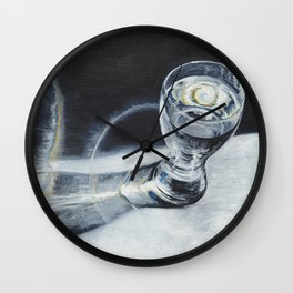 Glass of the water in the light Wall Clock