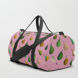 Pears pattern in pink background Duffle Bag