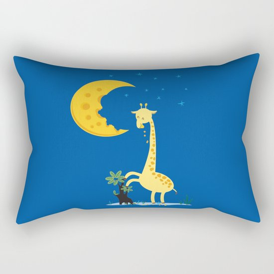 The Delicious Moon Cheese Rectangular Pillow