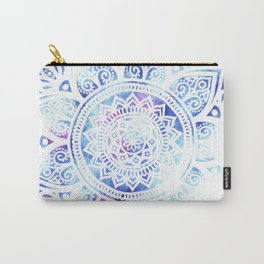 Purple and Blue Tied-Dye Mandala - LaurensColour Carry-All Pouch