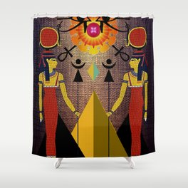 Hathor under the eyes of Ra -Egyptian Gods and Goddesses Shower Curtain