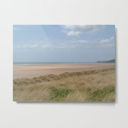 SAUNTON SANDS BEACH NORTH DEVON Metal Print