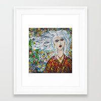 saga Framed Art Prints featuring SAGA by JANUARY FROST
