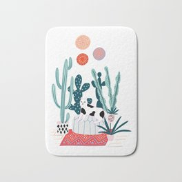 Cat and cacti Bath Mat