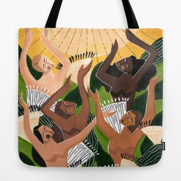 And then we saw the sun Tote Bag
