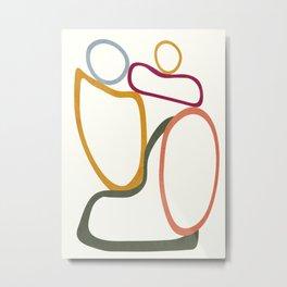 Colorful Flow III Metal Print