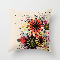 blossom Throw Pillows featuring Blossom by Kakel