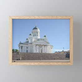 Helsinki Cathedral | Finland travel photography | Bright and pastel colored photo print | Framed Mini Art Print