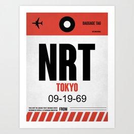 NRT Tokyo Luggage Tag 1 Art Print