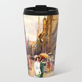 Great vintage belle epoque scene Vienna Austria  Travel Mug