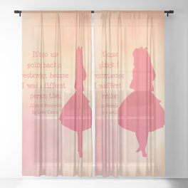 Alice in Wonderland Sheer Curtain