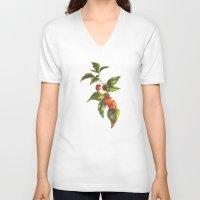 lantern V-neck T-shirts featuring Lantern by Chloe Frederik