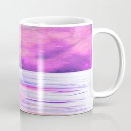 ABSTRACT OCEAN PINK HORIZON Coffee Mug