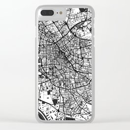 Tianjin Map Gray Clear iPhone Case