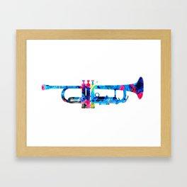 Colorful Trumpet 2 Art By Sharon Cummings Framed Art Print