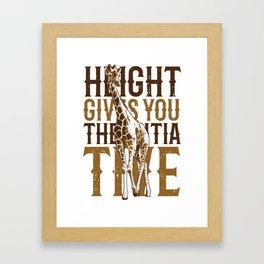 Giraffe Initiative Framed Art Print