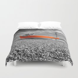 Orange Boat Duvet Cover