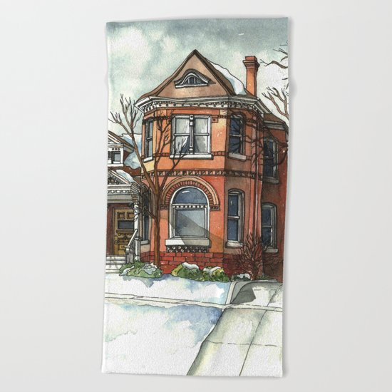 Victorian House in The Avenues Beach Towel