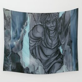 Waterfall Village Wall Tapestry