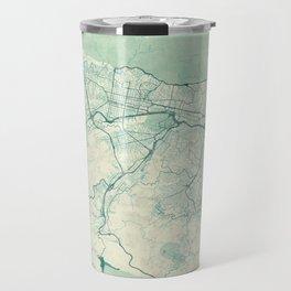 Caracas Map Blue Vintage Travel Mug