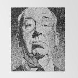 Fingerprint - Hitchcock Throw Blanket