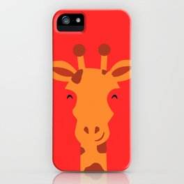 Smiling Giraffe by cammie iPhone Case