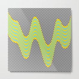 Dripping stripes Metal Print