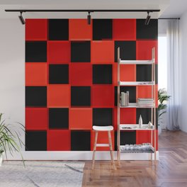 Red & Black Checkers : CheckerBoarD Wall Mural
