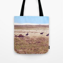 Vultures on Donkey Tote Bag