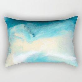 """""""Swakopmund"""" Resin Seascape coastal art, Africa coast in Namibia Rectangular Pillow"""