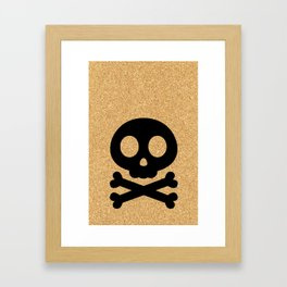 cork paper skelton Framed Art Print