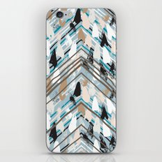 Chevron print with colorful stripes and lines iPhone & iPod Skin
