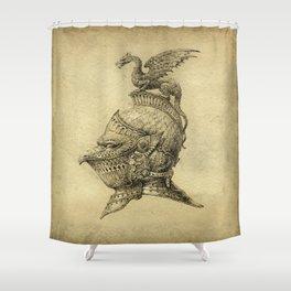 Knight Fantasy Grunge Shower Curtain