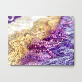 Merino / Mohair - Flow II Metal Print